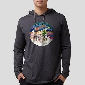 Xmas Magic - Shih Tzus (FIVE).pn Mens Hooded Shirt