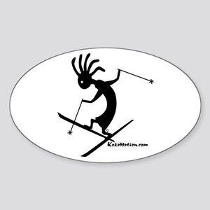 Kokopelli Extreme Skier Oval Sticker