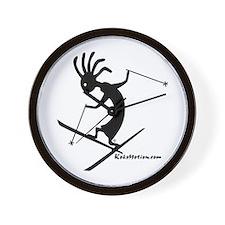 Kokopelli Extreme Skier Wall Clock