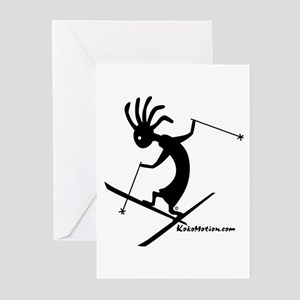 Kokopelli Extreme Skier Greeting Cards (Package of