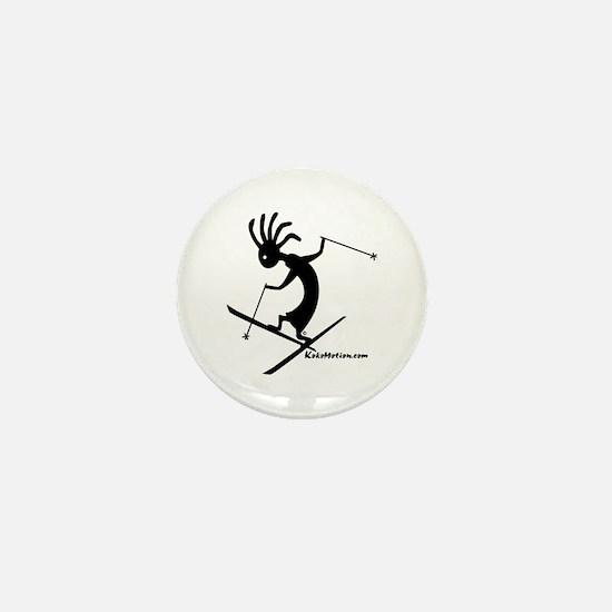Kokopelli Extreme Skier Mini Button