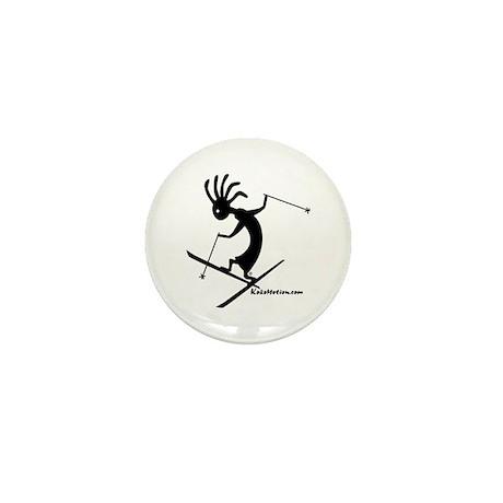 Kokopelli Extreme Skier Mini Button (100 pack)