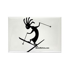 Kokopelli Extreme Skier Rectangle Magnet (10 pack)