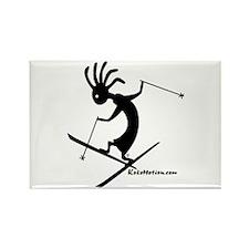Kokopelli Extreme Skier Rectangle Magnet (100 pack