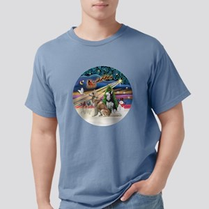 Xmas Magic - Siberian Hu Mens Comfort Colors Shirt