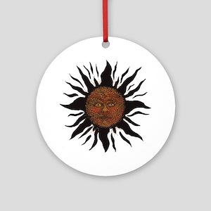 Black Sun Ornament (Round)