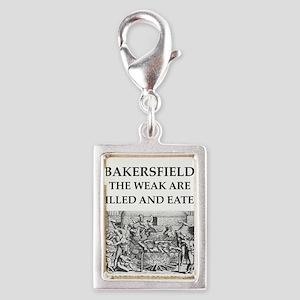 bakersfield Silver Portrait Charm