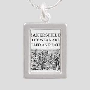 bakersfield Silver Portrait Necklace
