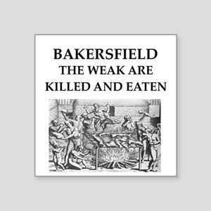 "bakersfield Square Sticker 3"" x 3"""