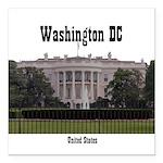 "Washington DC Square Car Magnet 3"" x 3"""