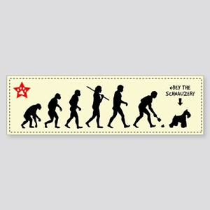 SCHNAUZER Evolution! Bumper Sticker
