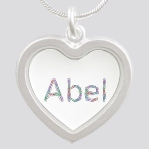 Abel Paperclips Silver Heart Necklace