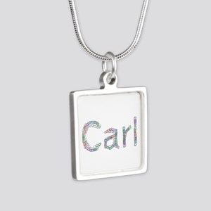 Carl Paperclips Silver Square Necklace