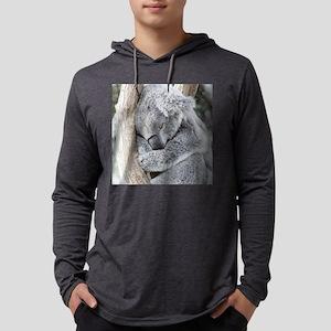 Sleeping Koala baby Mens Hooded Shirt