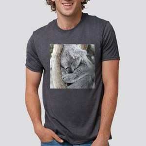 Sleeping Koala baby Mens Tri-blend T-Shirt