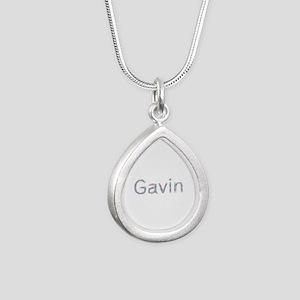 Gavin Paperclips Silver Teardrop Necklace