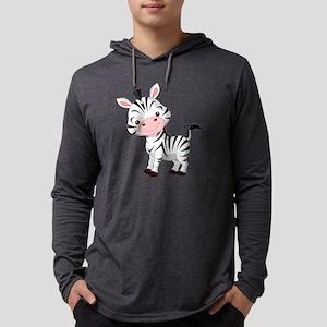 Cute Baby Zebra Mens Hooded Shirt