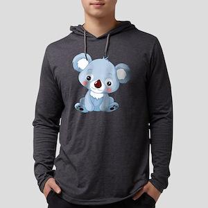 Baby Koala Mens Hooded Shirt