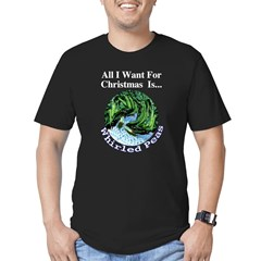 Christmas Peas Men's Fitted T-Shirt (dark)
