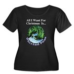 Christmas Peas Women's Plus Size Scoop Neck Dark T