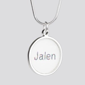 Jalen Paperclips Silver Round Necklace