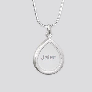 Jalen Paperclips Silver Teardrop Necklace