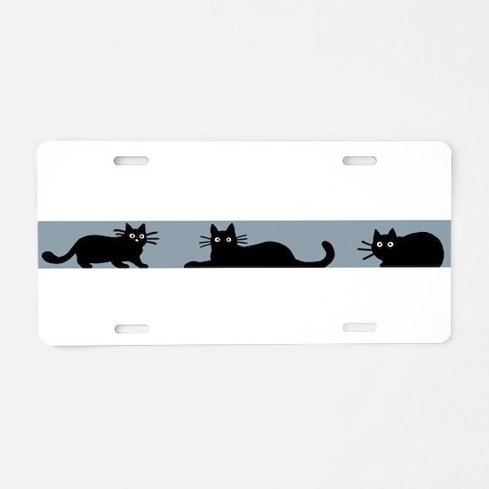 Cute Kitty art Aluminum License Plate