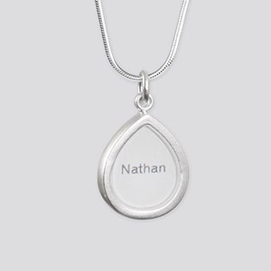 Nathan Paperclips Silver Teardrop Necklace