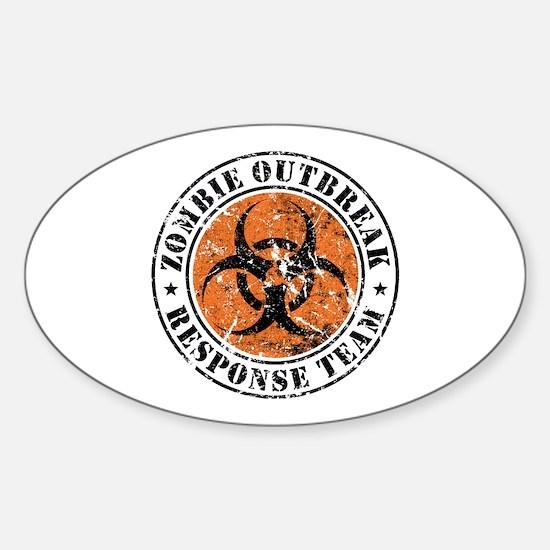 Zombie Outbreak Response Team 2 Sticker (Oval)