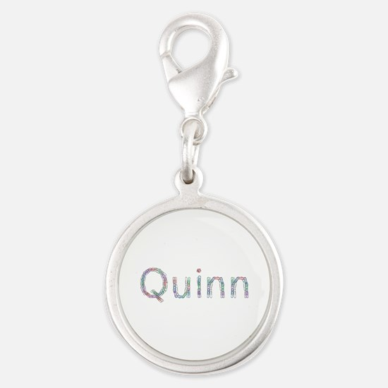 Quinn Paperclips Silver Round Charm