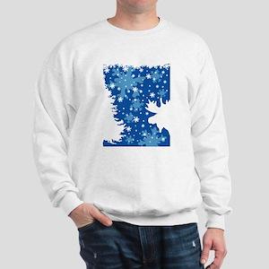 Christmas Moose Sweatshirt