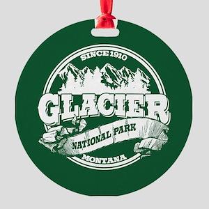 Glacier Old Circle Round Ornament
