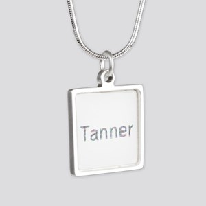 Tanner Paperclips Silver Square Necklace