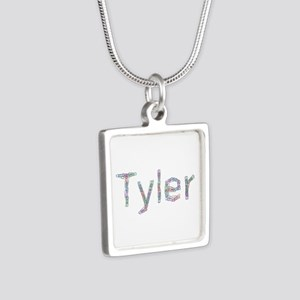Tyler Paperclips Silver Square Necklace