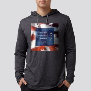 dissentlarge square Mens Hooded Shirt