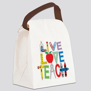 Live-Love-Teach Canvas Lunch Bag