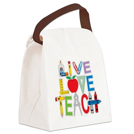 Live-Love-Teach Canvas Lunch Bag