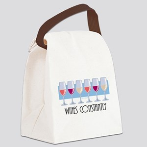 Wines-Constantly Canvas Lunch Bag