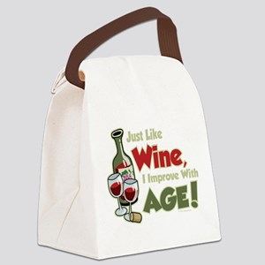 Wine-Improve-With-Age Canvas Lunch Bag
