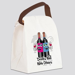 Drinks-Well-With-Others Canvas Lunch Bag