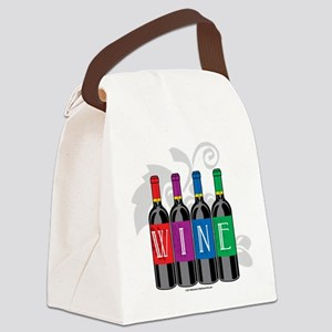 Wine-Bottles Canvas Lunch Bag