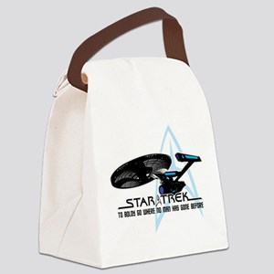 Star-Trek-To-Boldy-Go Canvas Lunch Bag