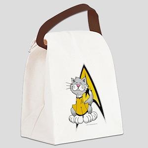 Star-Trek-Kirk-Cat Canvas Lunch Bag