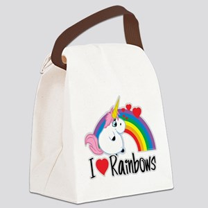 I-Love-Rainbows Canvas Lunch Bag