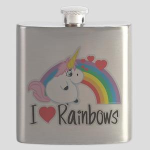I-Love-Rainbows Flask