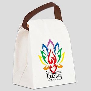 LGBTQ-Lotus-Flower Canvas Lunch Bag
