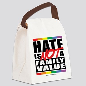 Hate-Family-Value Canvas Lunch Bag