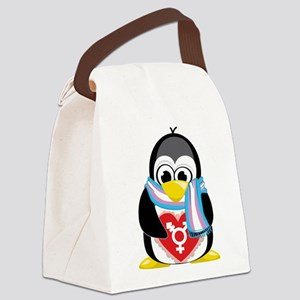 Transgender-Penguin-Scarf Canvas Lunch Bag