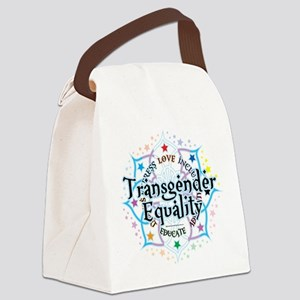Transgender-Equality-Lotus Canvas Lunch Bag