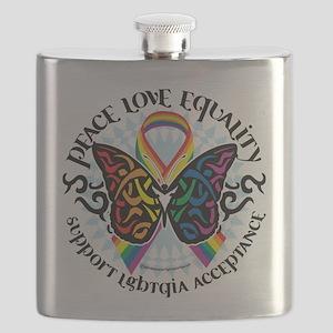 LGBTQIA-Butterfly-Tribal Flask